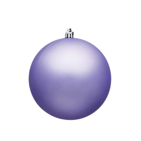 "Lavender Ball Ornaments 6"" Matte Set of 4"