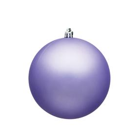 "Lavender Ball Ornaments 8"" Matte Set of 4"