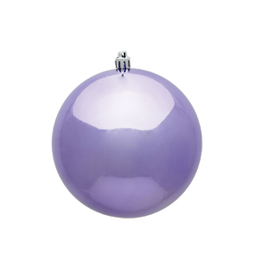 "Lavender Ball Ornaments 8"" Shiny Set of 4"
