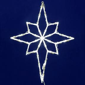 "LED Bethlehem Star Window Decor 18"" x 14"""