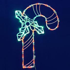 """LED Candy Cane Window Decor 17"""" x 11"""""""