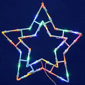 "LED Star Window Decor 15"" x 15"""