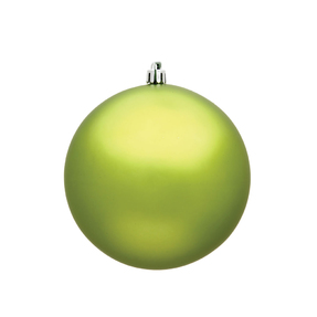 "Lime Ball Ornaments 4"" Matte Set of 6"