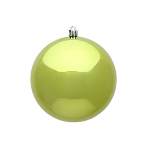 "Lime Ball Ornaments 4"" Shiny Set of 6"