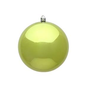 "Lime Ball Ornaments 12"" Shiny Set of 2"