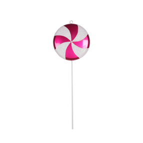 "Lollipop Ornament 17"" Hot Pink"