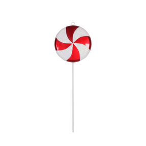 "Lollipop Ornament 24"" Peppermint"