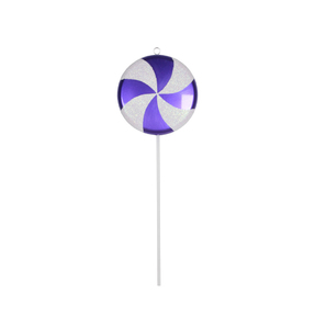 "Lollipop Ornament 17"" Purple"