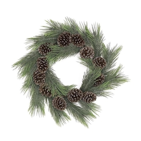 Long Needle Pine Wreath 24""