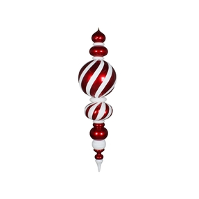 Peppermint Jumbo Ball Finial 62""