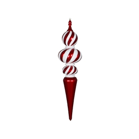 "Peppermint Italian Finial 51"" Red"