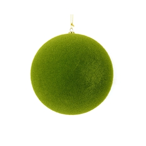 "Soft Felt Ball Ornament 4"" Set of 6 Moss"