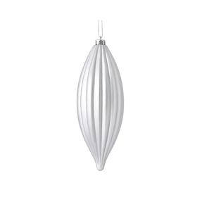 """Victoria Drop Ornament 8"""" Set of 4 Silver"""