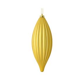 """Victoria Drop Ornament 8"""" Set of 4 Gold"""