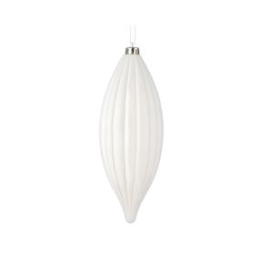 """Victoria Drop Ornament 8"""" Set of 4 White"""