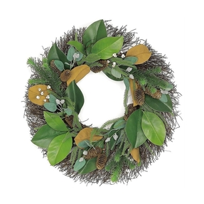 Magnolia Wreath 24""
