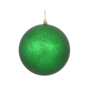 "Green Ball Ornaments 4"" Faux Mercury Matte Set of 6"
