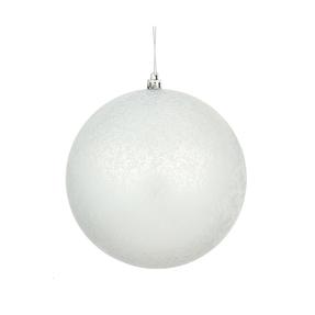 "Silver Ball Ornaments 6"" Faux Mercury Matte Set of 4"