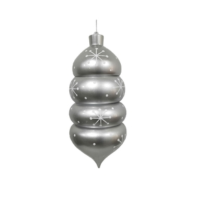 "Winter Drop Finial 21.5"" Silver"