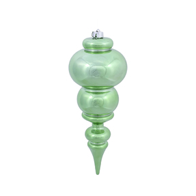 "Modern Finial 14"" Set of 2 Celadon Shiny"