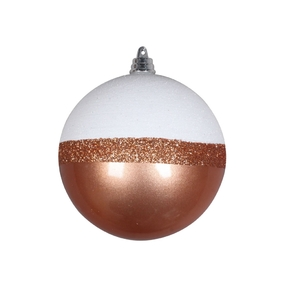 "Neve Ball Ornament 4"" Set of 6 Rose Gold"
