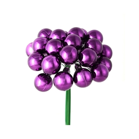 Joy Shiny Ball Pick Set of 2 Plum