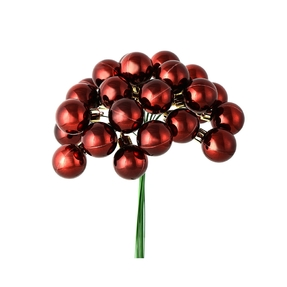 Joy Shiny Ball Pick Set of 2 Burgundy