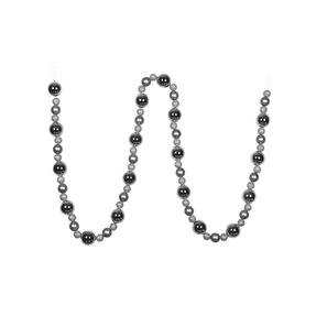 Bella Ball Garland 9' Silver