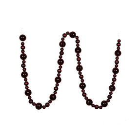 Bella Ball Garland 9' Burgundy