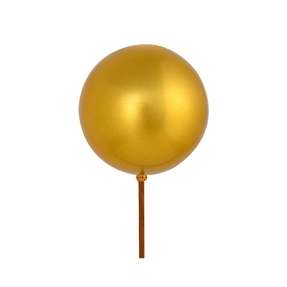 "Gold Ball Ornament Pick 4"" Candy Finish Set of 6"