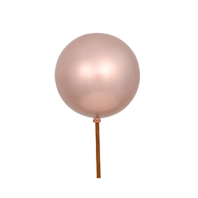 """Rose Gold Ball Ornament Pick 4"""" Candy Finish Set of 6"""