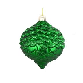 "Clara Pinecone Ornament 6"" Set of 6 Green"
