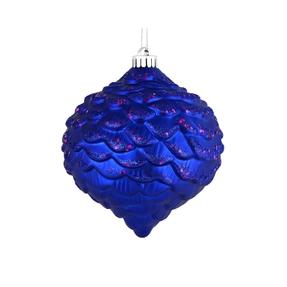 """Clara Pinecone Ornament 6"""" Set of 6 Cobalt"""