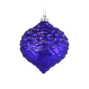"Clara Pinecone Ornament 6"" Set of 6 Purple"