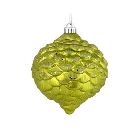 "Clara Pinecone Ornament 6"" Set of 6 Lime"