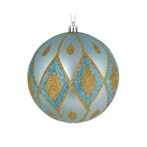 "Gloria Ball Ornament 4"" Set of 4 Ice Blue"