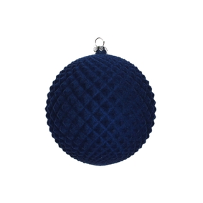 "Electra Soft Felt Ornament 4"" Set of 3 Midnight"