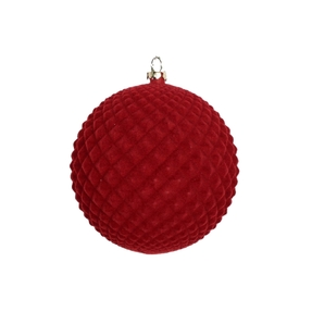 "Electra Soft Felt Ornament 4"" Set of 3 Burgundy"
