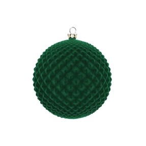 "Electra Soft Felt Ornament 4"" Set of 3 Green"