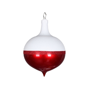 "Neve Onion Drop Ornament 9"" Set of 2 Red"