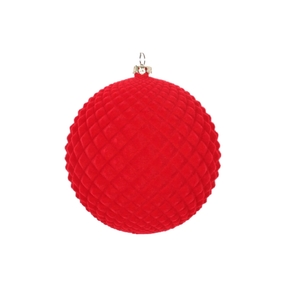 "Electra Soft Felt Ornament 4"" Set of 3 Red"