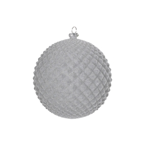 "Electra Soft Felt Ornament 4"" Set of 3 Grey"
