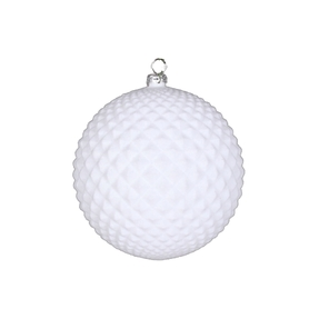 "Electra Soft Felt Ornament 4"" Set of 3 White"