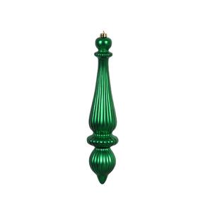 """Noel Drop Ornament 14"""" Set of 2 Green Matte"""