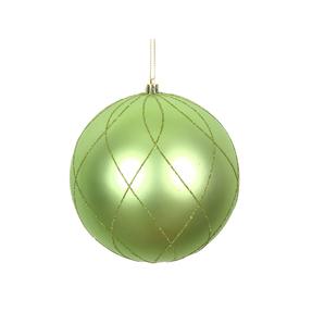 "Noelle Ball Ornament 6"" Set of 3 Celadon"