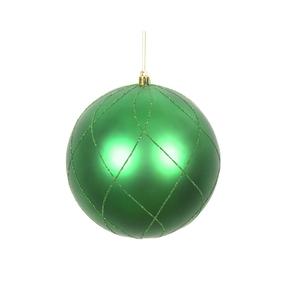 """Noelle Ball Ornament 6"""" Set of 3 Green"""