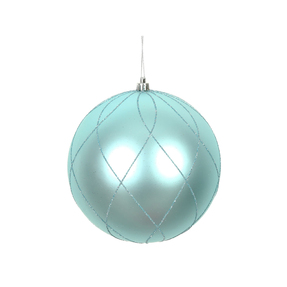 "Noelle Ball Ornament 8"" Set of 2 Ice Blue"