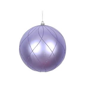 """Noelle Ball Ornament 8"""" Set of 2 Lavender"""