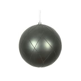 """Noelle Ball Ornament 6"""" Set of 3 Pewter"""