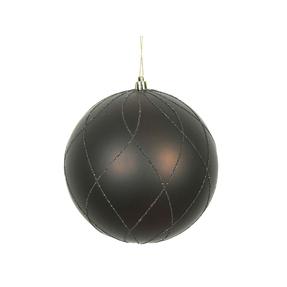 """Noelle Ball Ornament 8"""" Set of 2 Truffle"""